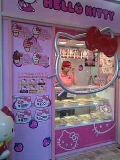 Hello Kitty Ice cream shop?