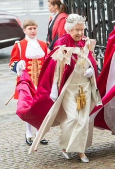 Queen Elizabeth II attends the Service of the Order of Bath at Westminster Abbey on 09 May 2014 in London, England.