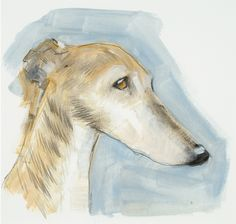 Our advent artwork today is 'Lurcher', oil on paper, 7 x x by Sally Muir (detail) - Lurcher, Animal Paintings, Art Paintings, Sally, New Art, Eye Candy, Moose Art, Horses, Artwork