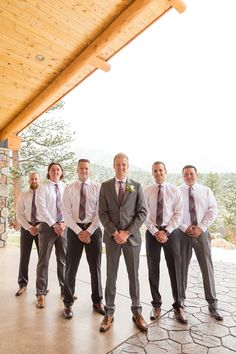 Check out these handsome mountain men from weddings at the Twin Owls Steakhouse in Estes Park, Colorado!