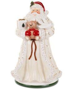 SANTA~Spode Christmas Tree Figural Santa Cookie Jar