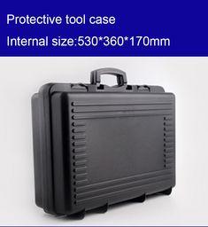 530*360*170mm plastic Tool case toolbox suitcase Impact resistant Instrumentation box Car storage box equipment camera case