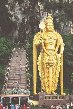 This will be one of our destinations near Kuala Lumpur: Batu Caves, Kuala Lumpur, Malaysia.