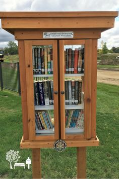 An awesome 3-story Little Free Library book exchange stewarded by Jim W. in Bad Axe, MI.