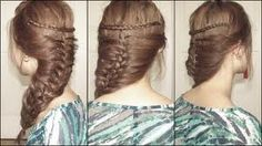 My hair do for the day! 05/07/2012 Quick and easy... =)