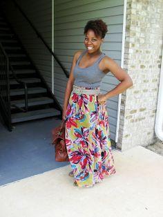 Savvy Lou: Maxi Dress refashioned into a Maxi Skirt DIY