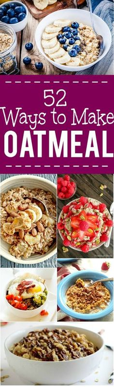 52 Breakfast Oatmeal Recipes -Over 50 new and delicious ways to eat your favorite breakfast! Try these BEST breakfast oatmeal recipes for a delightfully yummy reason to wake up in the morning. YES! I love oatmeal! It's really the perfect breakfast!