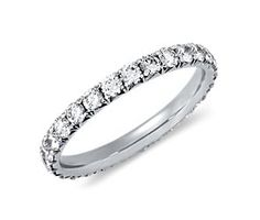 eternity band as engagement ring. our wedding rings will be finger print rings....so meaningful and sweet