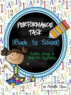 "This special FREEBIE ""Back to School"" Performance Task was designed to meet a variety of Common Core State Standards geared towards grades 3-5, mainly in Math and Writing. Students will go through a back to school experience where they add up school supply costs, arrange desks, measure desk items, figure out elapsed time, and write a letter about themselves. Your students will be completely engaged throughout this Performance Task!"