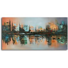 Enjoy this hand-painted wall art made with oil paints on canvas stretched over a 1 inches thick wooden frame. The painting is professionally hand-stretched and ready to hang out of the box. With each