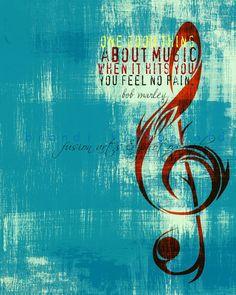 When Music Hits You 8 x 10 Music Note Bob by BrandiFitzgerald, $20.00
