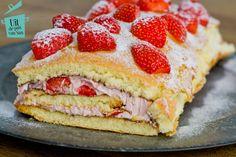 Aardbeien praline cakerol - Uit de pan van San