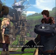 And I don't think Hiccup wants to admit that he likes Astrid.....forget it man, it shows! Astrid's so worried about him. I think it's sweet. He's promises her he's gonna be okay. This is love guys.....