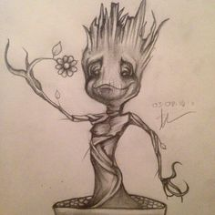 This is my version of baby Groot, from the Marvel film Guardians Of The Galaxy.