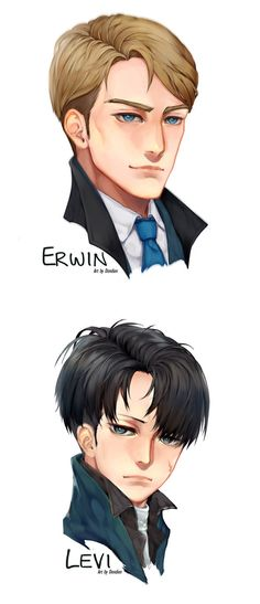 Attack on Titan- Erwin and Levi  By dondion