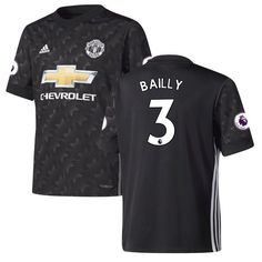 Eric Bailly Manchester United adidas Youth 2017/18 Away Replica Jersey - Black