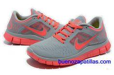 low priced e079b 358f1 Mujer Nike Free Run 3 Zapatillas (color   empeine y en el interior - gris    logo y unico - de color rosa )