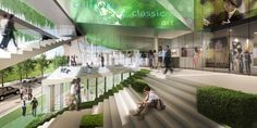 Image 7 of 13 from gallery of Culture Forest / Unsangdong Architects. Courtesy of Unsangdong Architects Cultural Architecture, Green Architecture, Classical Architecture, Sustainable Architecture, Landscape Architecture, Urban Park, Remodels And Restorations, Cultural Center, Beautiful Voice