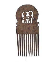 Akan Comb, Carved Persons #1620 | Combs | Artifacts — Deco Art Africa - Decorative African Art - Ethnic Tribal Art - Art Deco