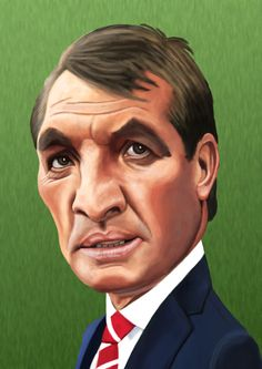 Brendan Rodgers Ynwa Liverpool, Liverpool Football Club, Cartoon Faces, Funny Faces, Funny Toons, Premier League Soccer, Brendan Rodgers, Celtic Fc, You'll Never Walk Alone