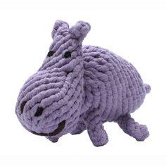 Jax and Bones Hank the Hippo Rope Toy - PetSwag