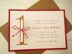 First Birthday Candle Invitations. How adorable!