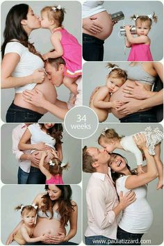 Photo ideas Family photo Mommy daddy big sis and baby