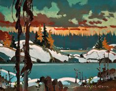 Scotty's Point, October, Lake of the Woods, by Robert Genn