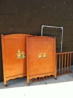 RARE Vintage Thomas Edison Crib, Edison Little Folks Furniture, Vintage Crib on Etsy, $450.00