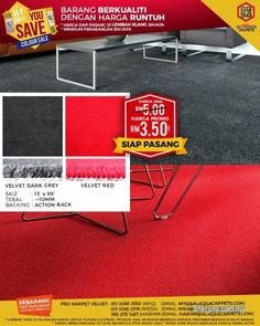 WE are the leading supplier of office and commercial carpets, carpet tiles & wood vinyl flooring in Malaysia.WE guarantee Price and Quality Satisfaction. Carpets Online, Vinyl Wood Flooring, Wood Vinyl, Dark Grey Carpet, Red Carpet, Affordable Carpet, Carpet Cleaner Vacuum