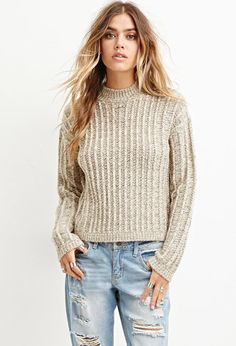 Boxy Mock Neck Sweater | Forever 21  $22.90