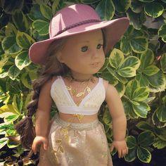 Lea Clark Tenney Grant Inspired Crochet Cream Bralette Fits | Etsy Lea Clark, American Girl Parties, Crochet Fabric, Wellie Wishers, Simple Dresses, The Little Mermaid, Girl Dolls, Doll Clothes, Little Girls