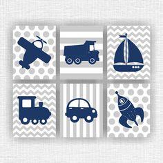 Baby Boy Nursery printable Navy Blue and Gray by myfavoritedecor
