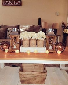 My finished rustic living room ❤ (Credit: Martha Robles)