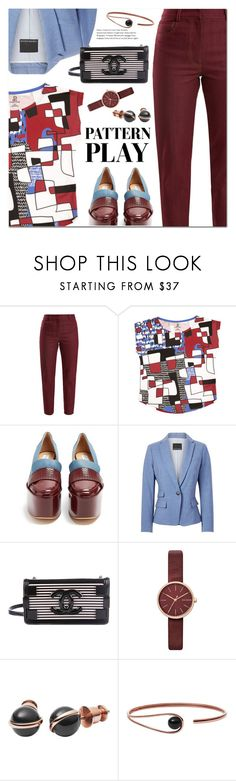 """Pattern Play"" by ansev ❤ liked on Polyvore featuring Gabriela Hearst, Chanel and Skagen"