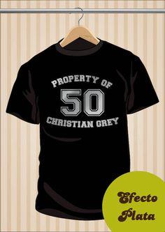 Camiseta Property Of Chritian Grey #TShirt #Camiseta #Tee #Art #Design #Diseño #Moda #Fashion #50Shades #50Sombras #50SombrasDeGrey #50ShadesOfGrey 17,99€ y envío #gratis sólo en www.UppStudio.com