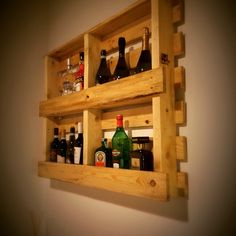 Pallet homemade winey rack