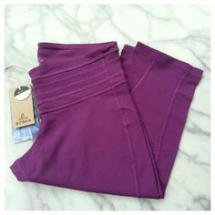 """prAna Olympia Capris Soft, comfortable workout capris with wide waistband, hidden key pocket and 15.5"""" inseam. Nylon/spandex, machine wash, dry flat. New with tags. prAna Pants Capris"""