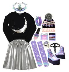 """Uchuu Kei Winter Outfit"" by this-perfect-dream ❤ liked on Polyvore"