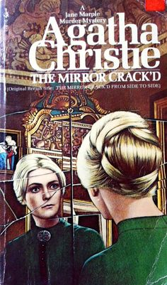 The Mirror Crack'd by Agatha Christie. Golden Age British crime fiction, US paperback edition. Pocket books 1972. Cover art: Tom Adams.