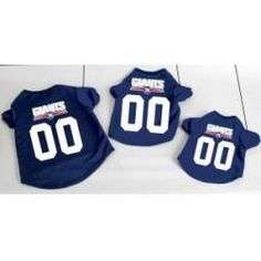 NEW! Authentic NY Giants Dog Football Jersey Sizes Small to XL