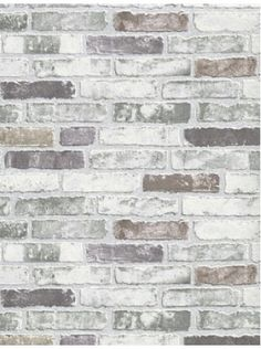 White Grey Brick Wallpaper for the kitchen backsplash - $40 This is what I want!!!