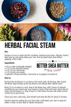 Homemade Skin Care, Diy Skin Care, Homemade Facials, Best Skin Care Regimen, Facial Steaming, Natural Vitamin E, Moisturizer For Oily Skin, Natural Skin Care, Herbalism