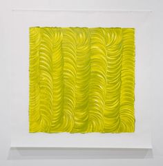 Noel Ivanoff, Levigation - green I, 2009, Raw pigment and acrylic binder on dacron  1400 x 1400 mm