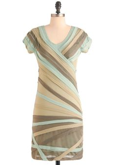 Sage Tonight Dress, unfortunately in polyester, but so cute.