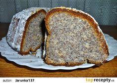 Makovo-tvarohová bábovka recept - TopRecepty.cz Czech Desserts, Eastern European Recipes, Czech Recipes, Pie Dessert, Banana Bread, Tart, Cupcake, Food And Drink, Favorite Recipes