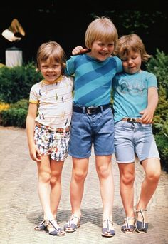 R) Prince Friso, Prince Willem-Alexander and Prince Constantijn (NL)