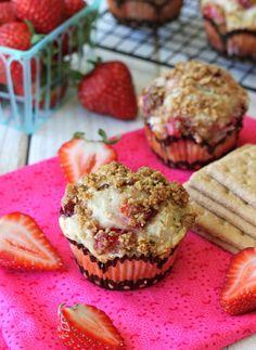 Strawberry Cheesecake Graham Cracker Muffins - Damn Delicious
