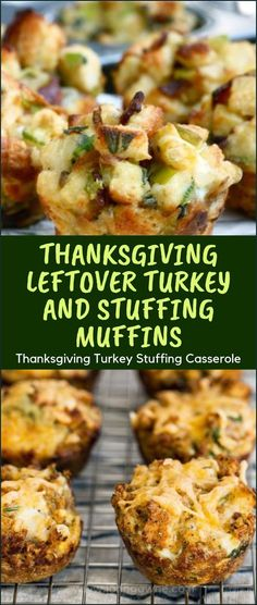 Thanksgiving Leftover Turkey and Stuffing Muffins - Thanksgiving Turkey Stuffing Casserole - Pins Leftover Turkey Curry, Easy Leftover Turkey Recipes, Leftover Turkey Casserole, Thanksgiving Casserole, Stuffing Recipes For Thanksgiving, Thanksgiving Leftovers, Leftovers Recipes, Turkey Leftovers, Jelly Beans