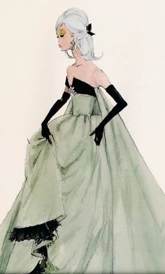 facilisimo.com barbie robert best designer green gown art drawing